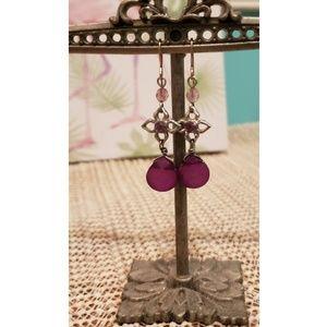 Jewelry - Purple Dangly Earrings